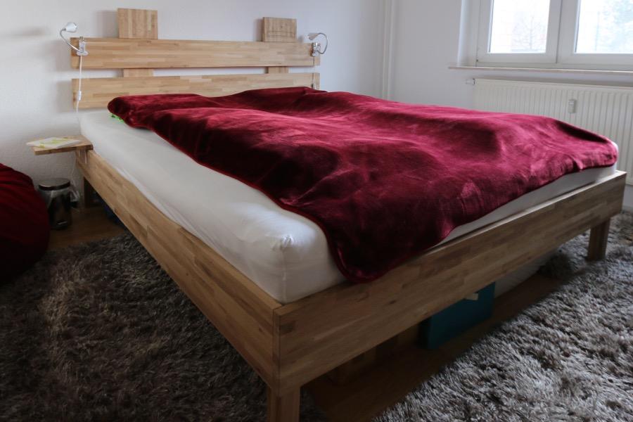 Das fertige Bett