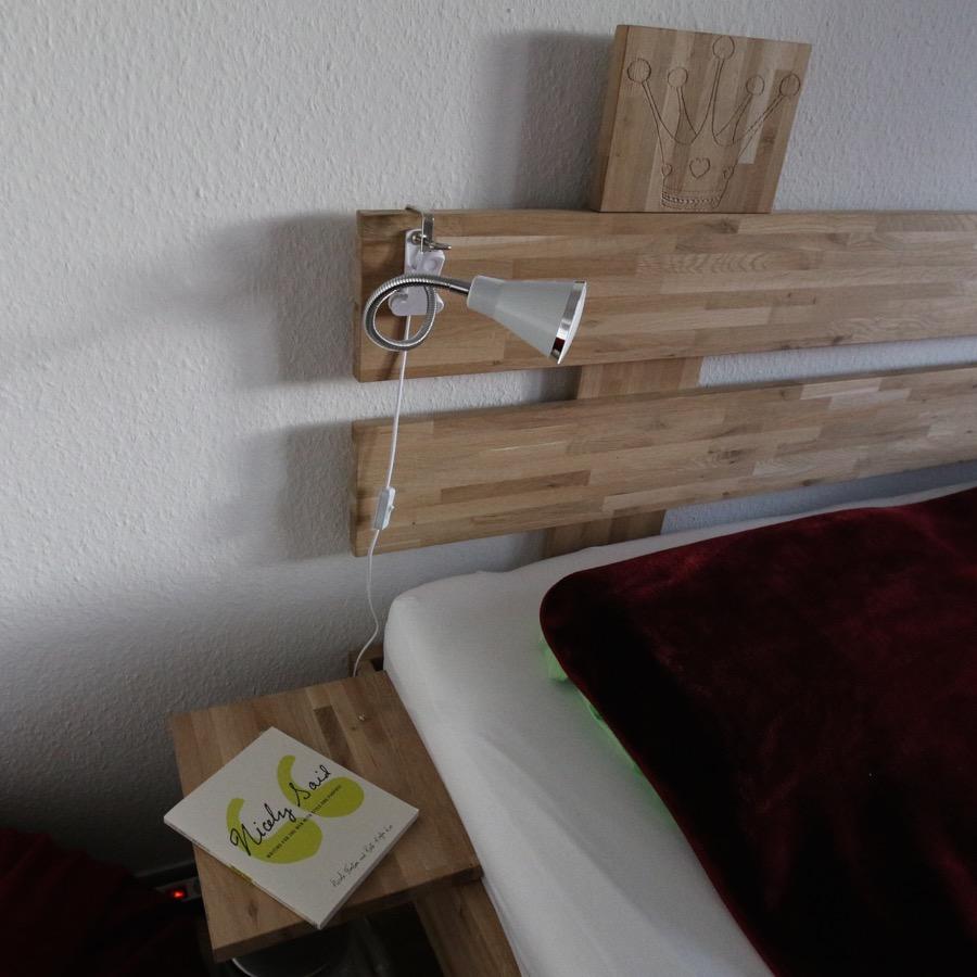 Bauanleitung Massivholzbett - Übergröße, Holzzuschnitt, Kosten